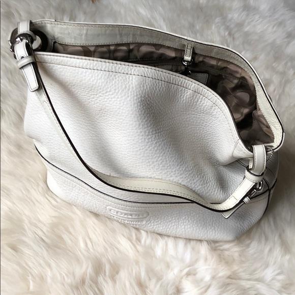 Coach Handbags - COACH Cream Pebbled Leather Bucket Bag 9464f5f831c78